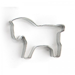 Nic protruding shape horse 5 x 4 x 1 cm bright steel