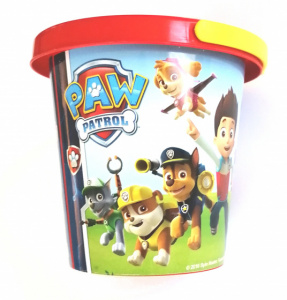 Nickelodeon bucket Paw Patrol jumior 16 cm red