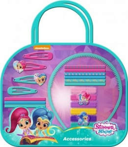 Nickelodeon haaraccessoires met koffer Shimmer and Shine 20-delig