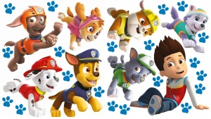 Nickelodeon muursticker Paw Patrol run 2 stickervellen