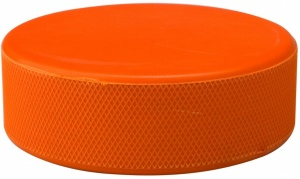 Nijdam Eishockey-Puck Rubber in Blister 160 Gram Orange