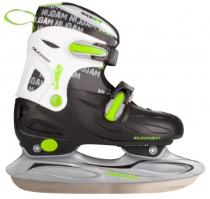 Nijdam Ice Hockey Skate 3010 Junior Black Green