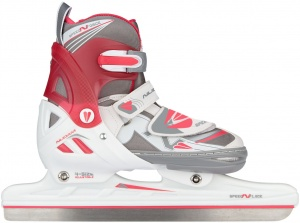 Nijdam norskates girls adjustable white/pink