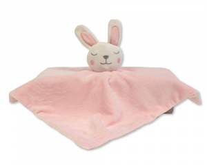 Nursery Time cuddly blanket rabbit 30 cm polyester pink