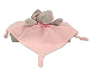 Nursery Time cuddly blanket elephant 30 cm polyester pink