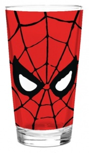 Paladone glas Mavel Spider-Man 400 ml rood
