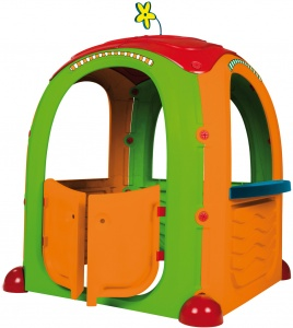 Paradiso Toys playhouse Cocoon94 x 125 cm vert/orange/rouge