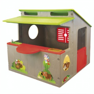 Paradiso Toys playhouse Kiosk 139 x 118 cm brown/green/red
