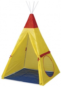 Paradiso Toys play tent wigwam100 x 135 cm yellow
