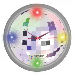 Party FunLights wandklok disco led 30 cm
