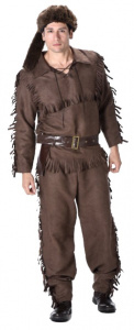 Partychimp costume poacher men's polyester brown