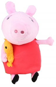 Nickelodeon knuffel Peppa Pig pluche rood 25 cm