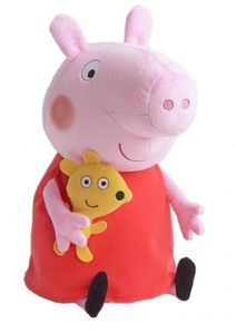 Nickelodeon knuffel Peppa Pig pluche rood 33 cm