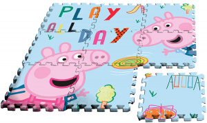 Nickelodeon puzzle de sol Peppa Pig junior 90 cm de mousse bleu/rose