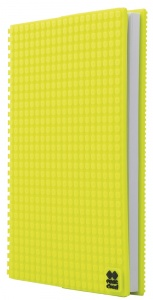 Pixie crew diary with silicone panel A5 neon yellow