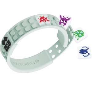 Pixie crew pixel armband Space Invader wit 35-delig