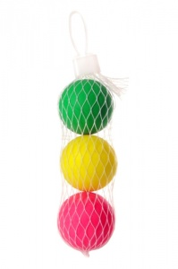 Playfun beachball balletjes 3 stuks multicolor