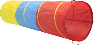 Playfun play tunnel 180 x 47 cm yellow/blue/red