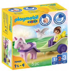 PLAYMOBIL 1,2,3 - Unicorn carriage with fairy (70401)
