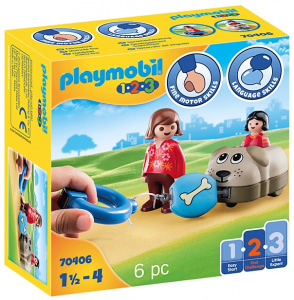 PLAYMOBIL 1,2,3 - Hondentrein (70406)