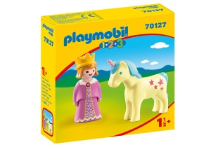PLAYMOBIL 1, 2, 3 - Princess and unicorn (70127)