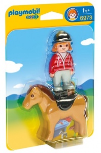 PLAYMOBIL 1, 2, 3: Rider à cheval (6973)