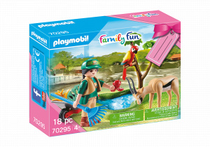 PLAYMOBIL gift set Zoo junior 18-piece