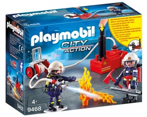 PLAYMOBIL City Action - Fire brigade team with water pump (9468)