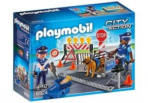 PLAYMOBIL Ville d'action: barrage de police (6924)