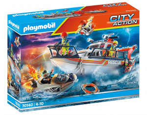 PLAYMOBIL City Action - Rescue at sea: firefighting mission