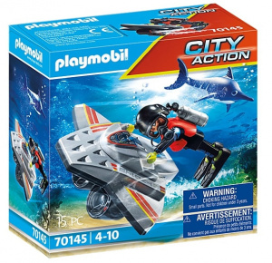 PLAYMOBIL City Action - Rescue at sea: Dive boat (70145)