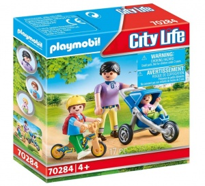 PLAYMOBIL City Life: Mommy with children (70284)