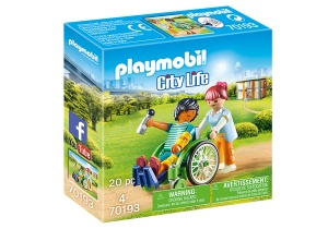 PLAYMOBIL City Life - Patient in wheelchair (70193)
