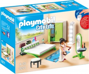 PLAYMOBIL City Life in der City Life : Schlafzimmer mit Make - up - Tabelle (9271)