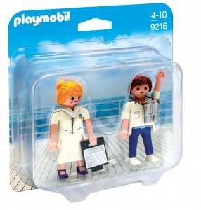 PLAYMOBIL Duopack: Steward en stewardess (9216)