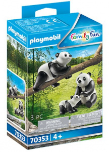 PLAYMOBIL Family Fun - 2 Pandas with baby (70353)