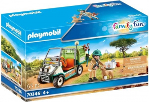 PLAYMOBIL Family Fun - Animal carer with vehicle (70346)