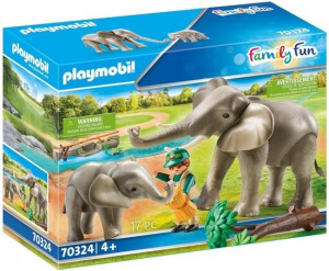 PLAYMOBIL Family Fun - Elephant shelter (70324)