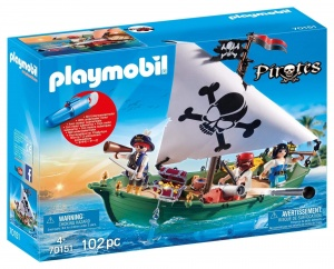 PLAYMOBIL Pirates - Piratenschuit met onderwatermotor (70151)