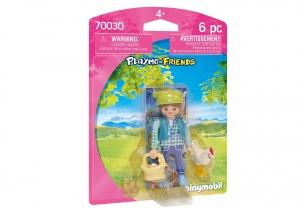 PLAYMOBIL Playmo-Friends - farmer's wife with chicken (70030)