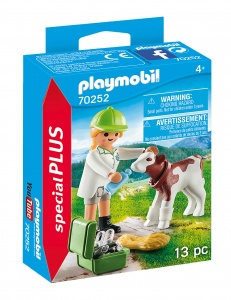PLAYMOBIL Playmo-Friends: Vet with calf (70252)