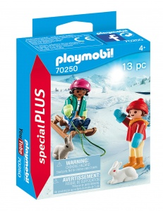 PLAYMOBIL Playmo-Friends: Children with sled (70250)