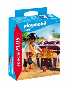 PLAYMOBIL Playmo-Friends: Piraat met schatkist (9358)