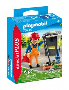 PLAYMOBIL Playmo-Friends : balayeuse de rue (70249)