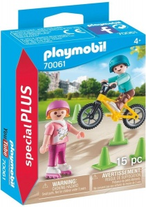 PLAYMOBIL Special Plus - Children with bike and skates (70061)
