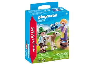 PLAYMOBIL Special Plus - Children with calf (70155)