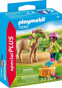 PLAYMOBIL Special Plus - Fille avec poney (70060)