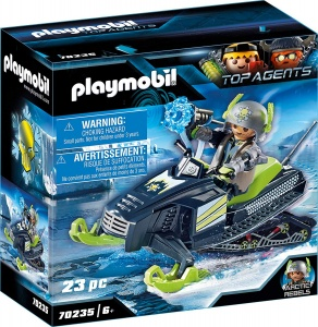 PLAYMOBIL Top Agents Arctic Rebels Snowmobile (70235)