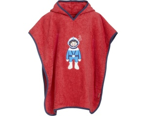 Playshoes badponcho astronaut rood junior
