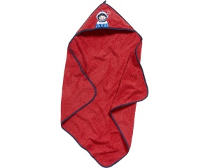 Playshoes badponcho duiker rood junior